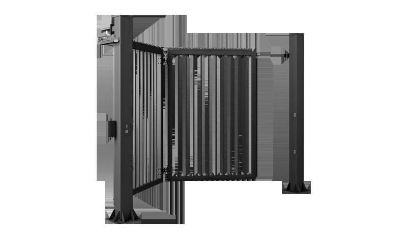 Enløyet port med 25x25 mm stolpeseksjoner